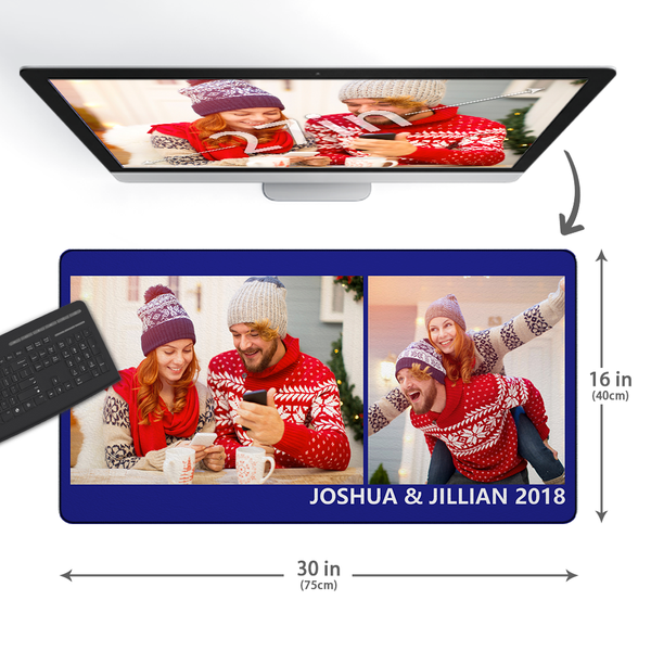 Custom Photo&Text Mouse Pad With 2 Photos