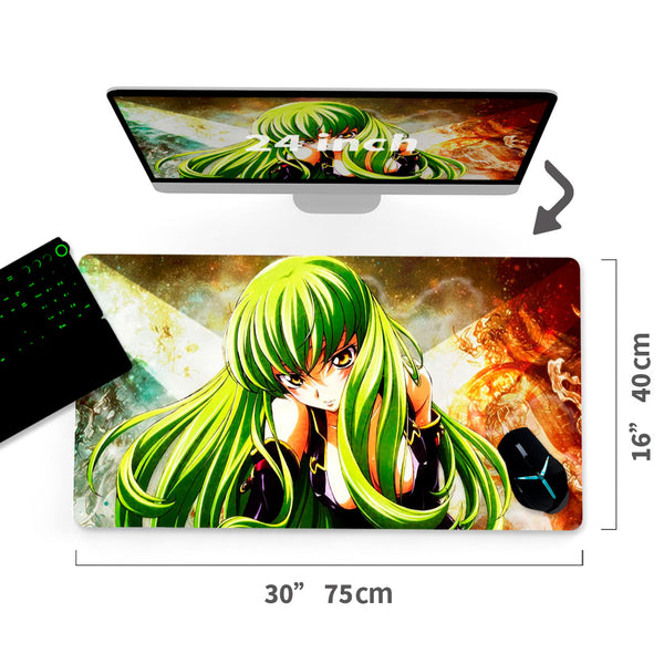 "Custom  Mouse Pad Code Geass Lelouch of the Rebellion A/C30""x16""3"