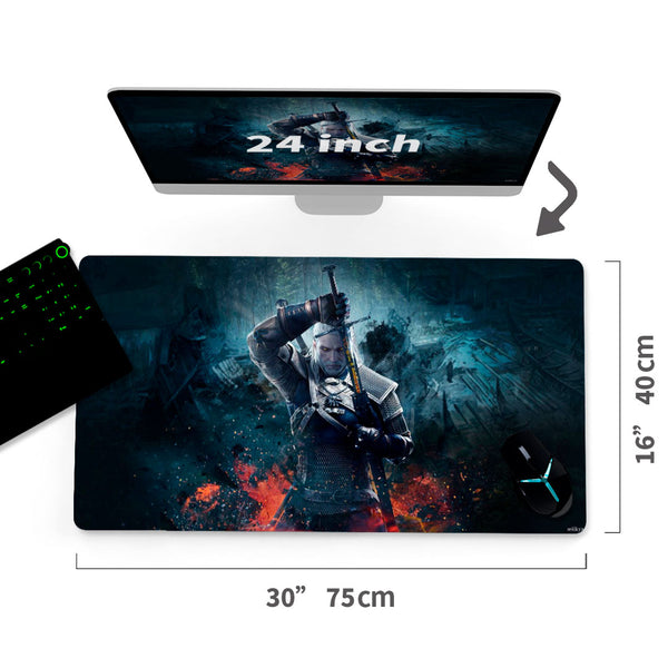 "Custom The Witcher 3 Wild Hunt Mouse Pad 30""x16"" - MyCustomMousePad"