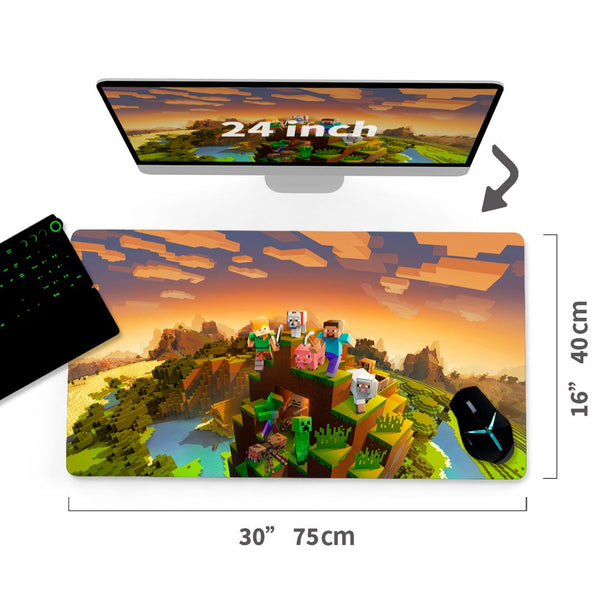 "Custom Minecraft Mouse Pad 30""x16"" - MyCustomMousePad"