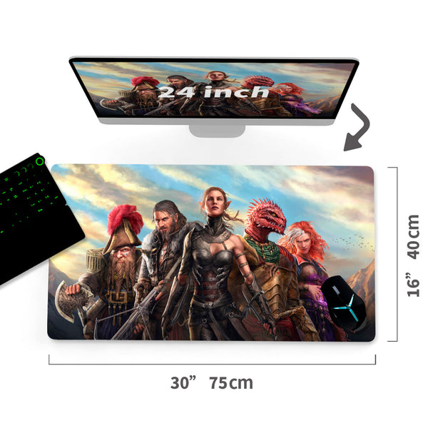 "Custom  Gaming Mouse Pad Divinity Original Sin II 30""x16""1"