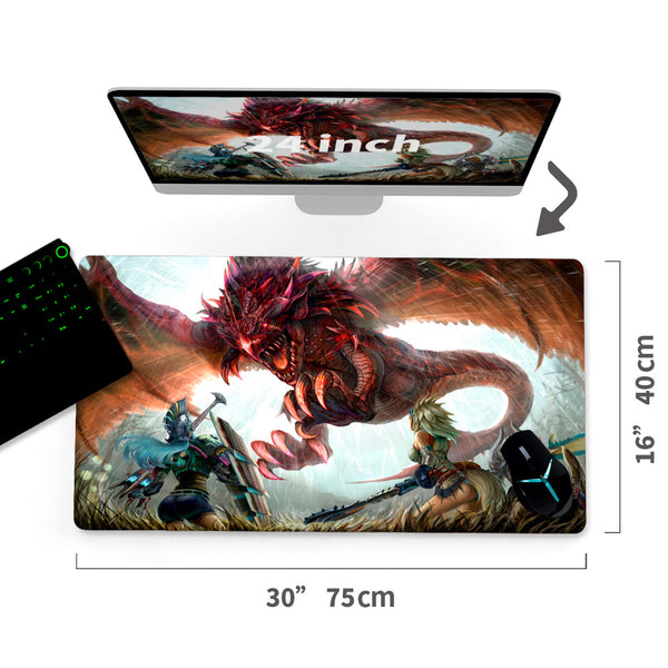 "Custom Monster Hunter Mouse Pad 30""x16""1"