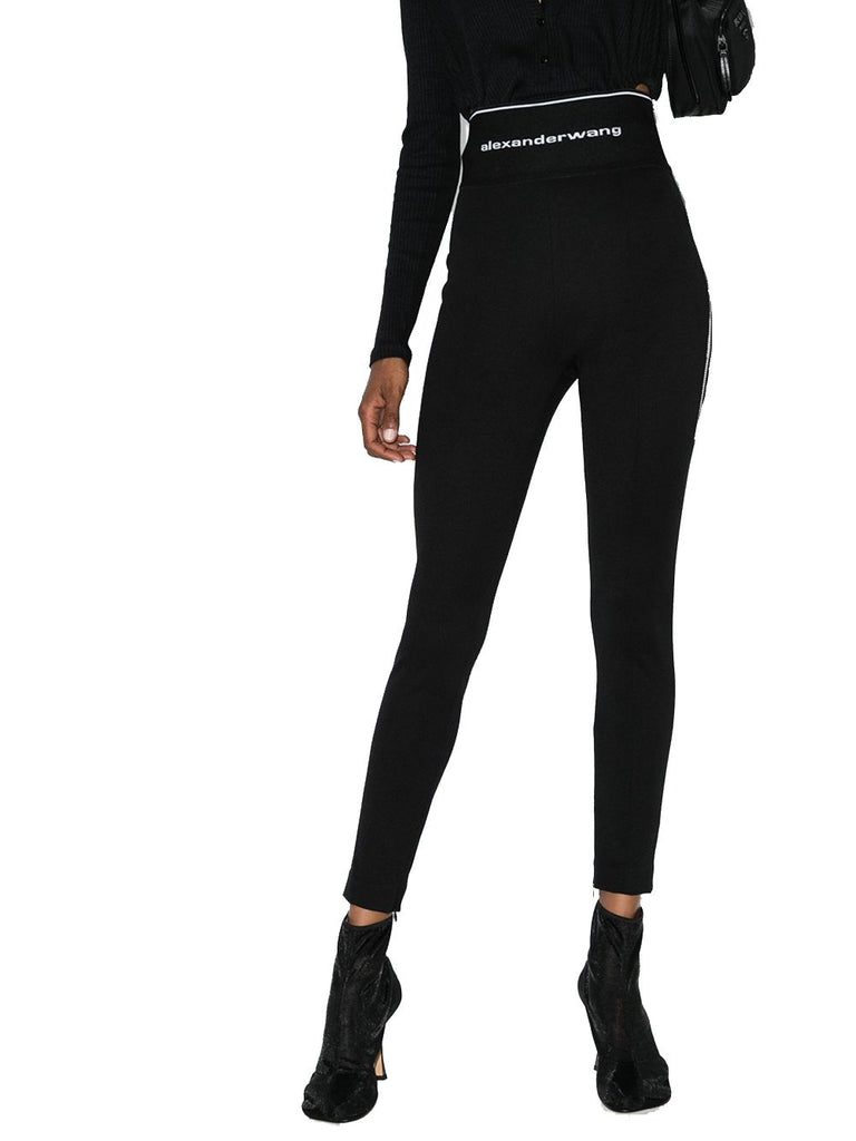 ALEXANDER WANG SCHWARZ LEGGINGS