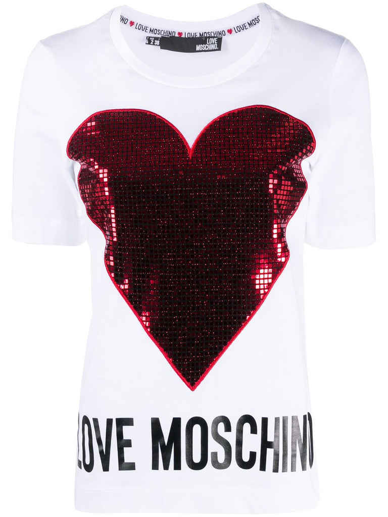 LOVE MOSCHINO WEISS T-SHIRT