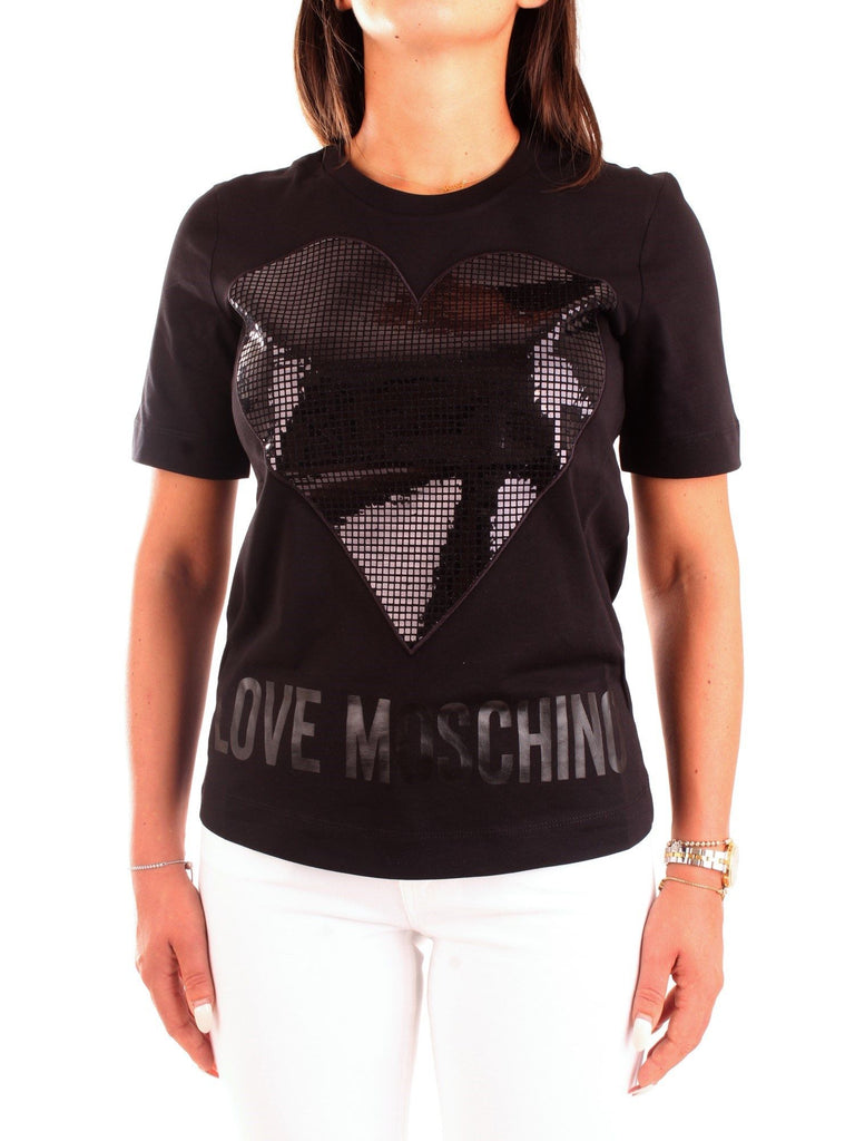 LOVE MOSCHINO SCHWARZ T-SHIRT