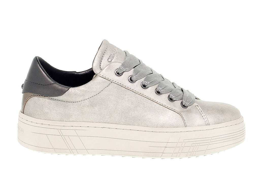 CRIME LONDON SILBER SNEAKERS