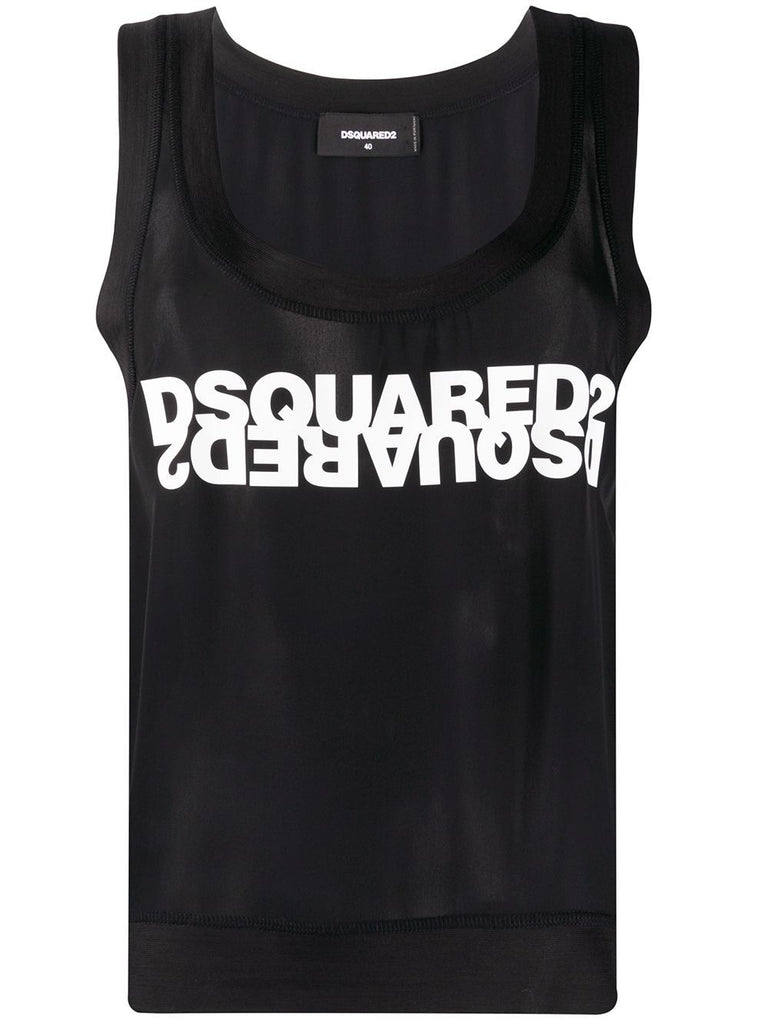 DSQUARED2 SCHWARZ TANK TOP