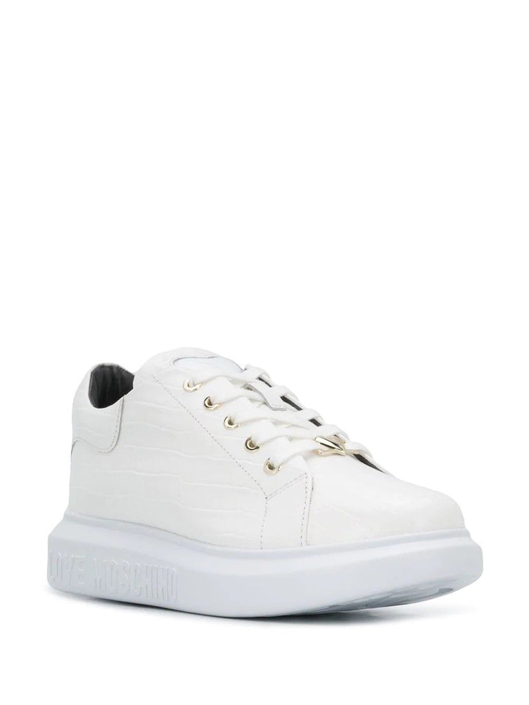 LOVE MOSCHINO WEISS SNEAKERS
