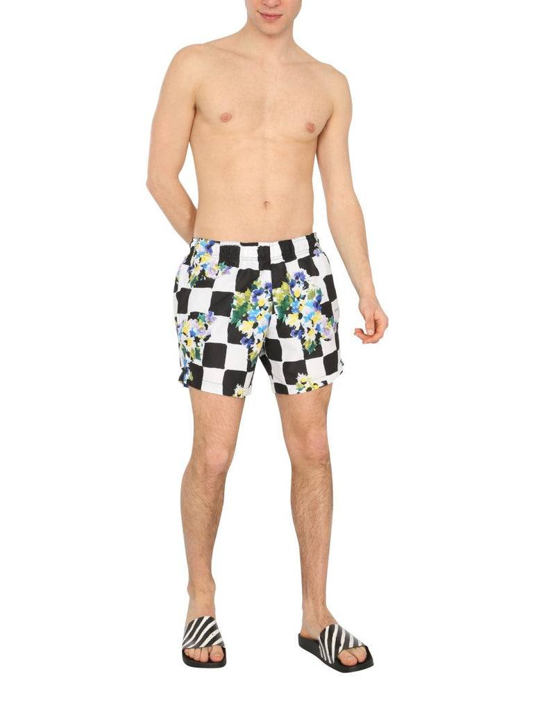 OFF-WHITE WEISS BADEBOXER