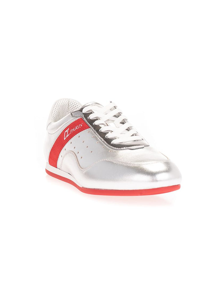 CHRISTIAN LOUBOUTIN SILBER SNEAKERS
