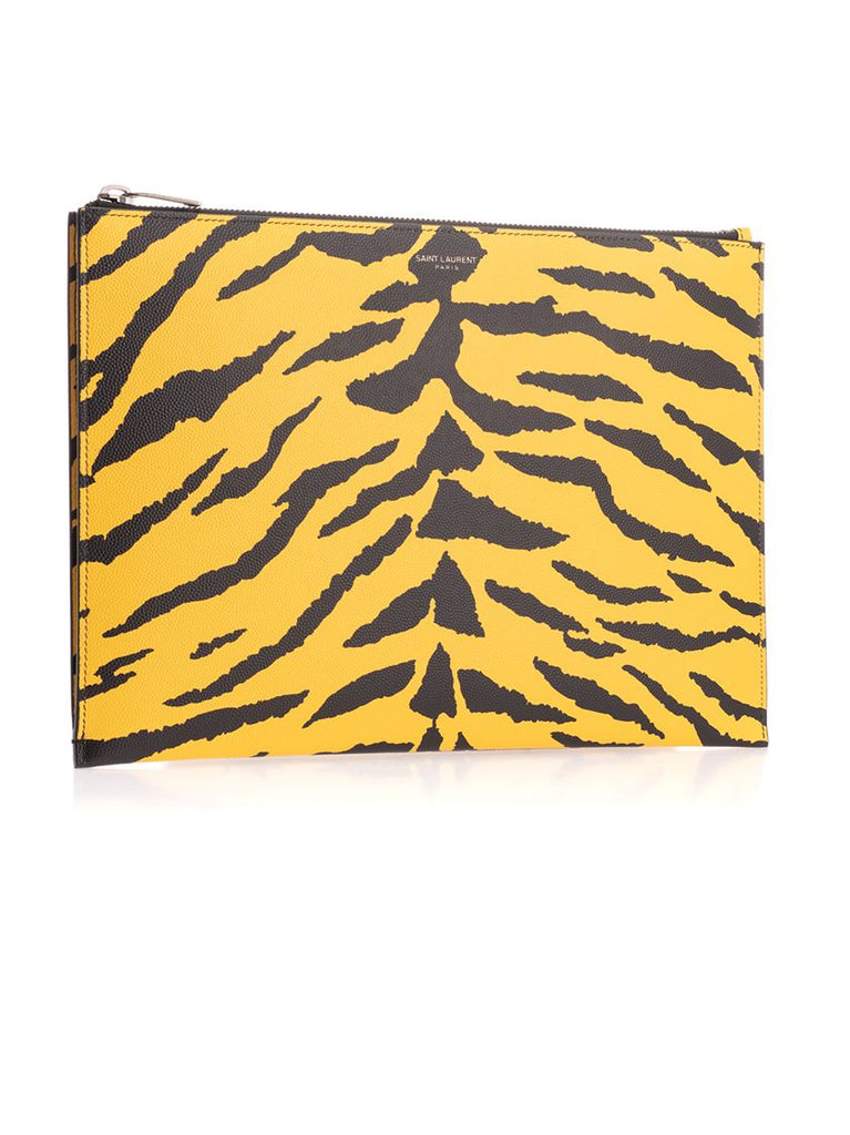 SAINT LAURENT GELB POUCH