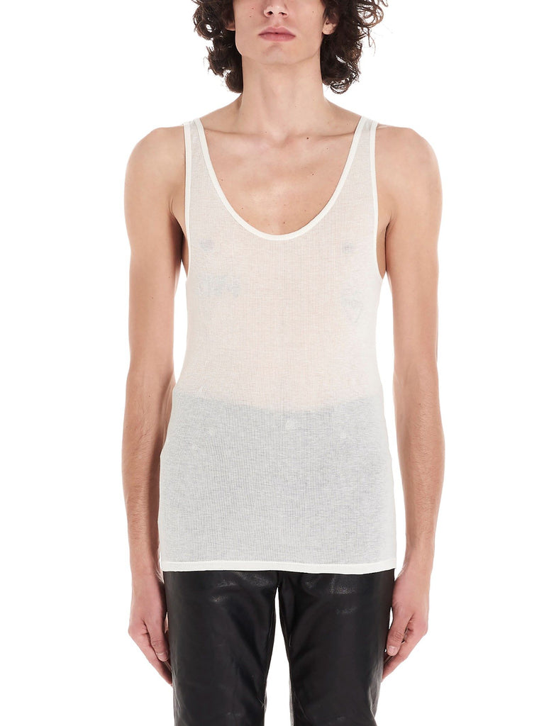 SAINT LAURENT WEISS TANK TOP