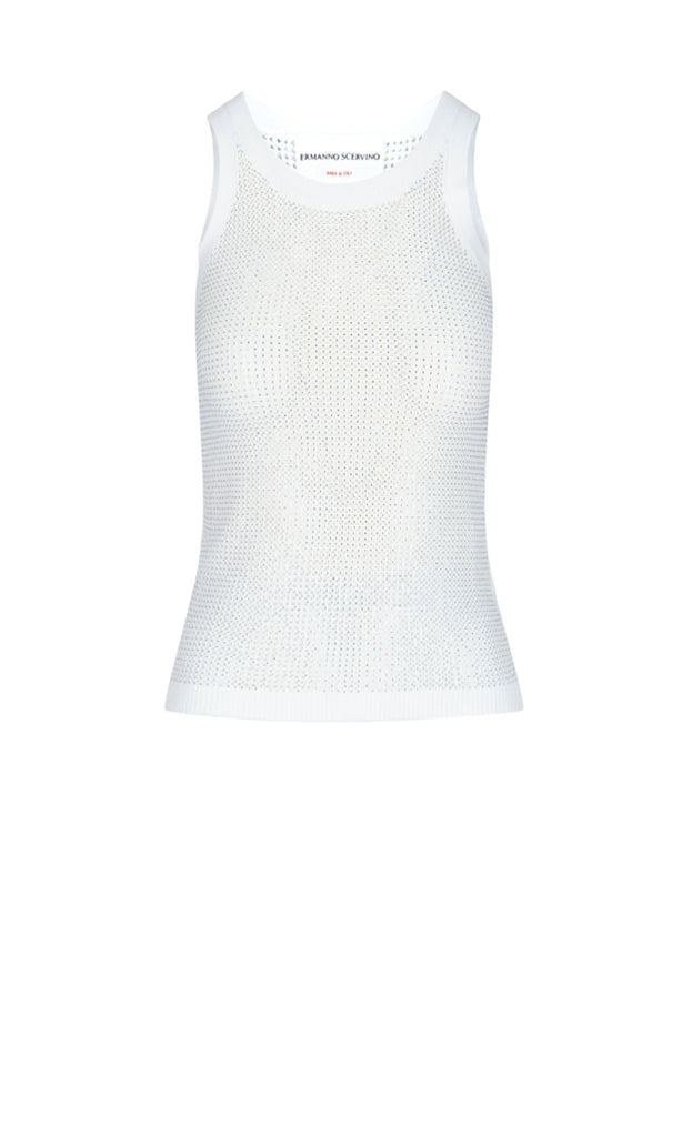 ERMANNO SCERVINO WEISS TANK TOP
