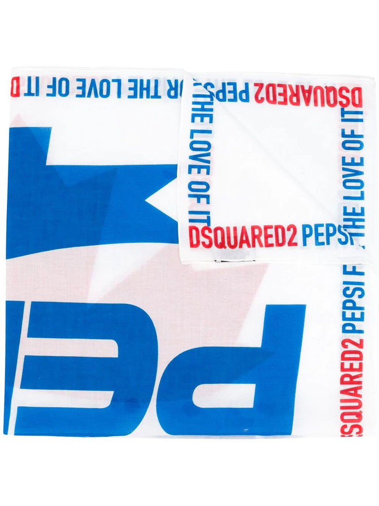 DSQUARED2 WEISS FOULARD