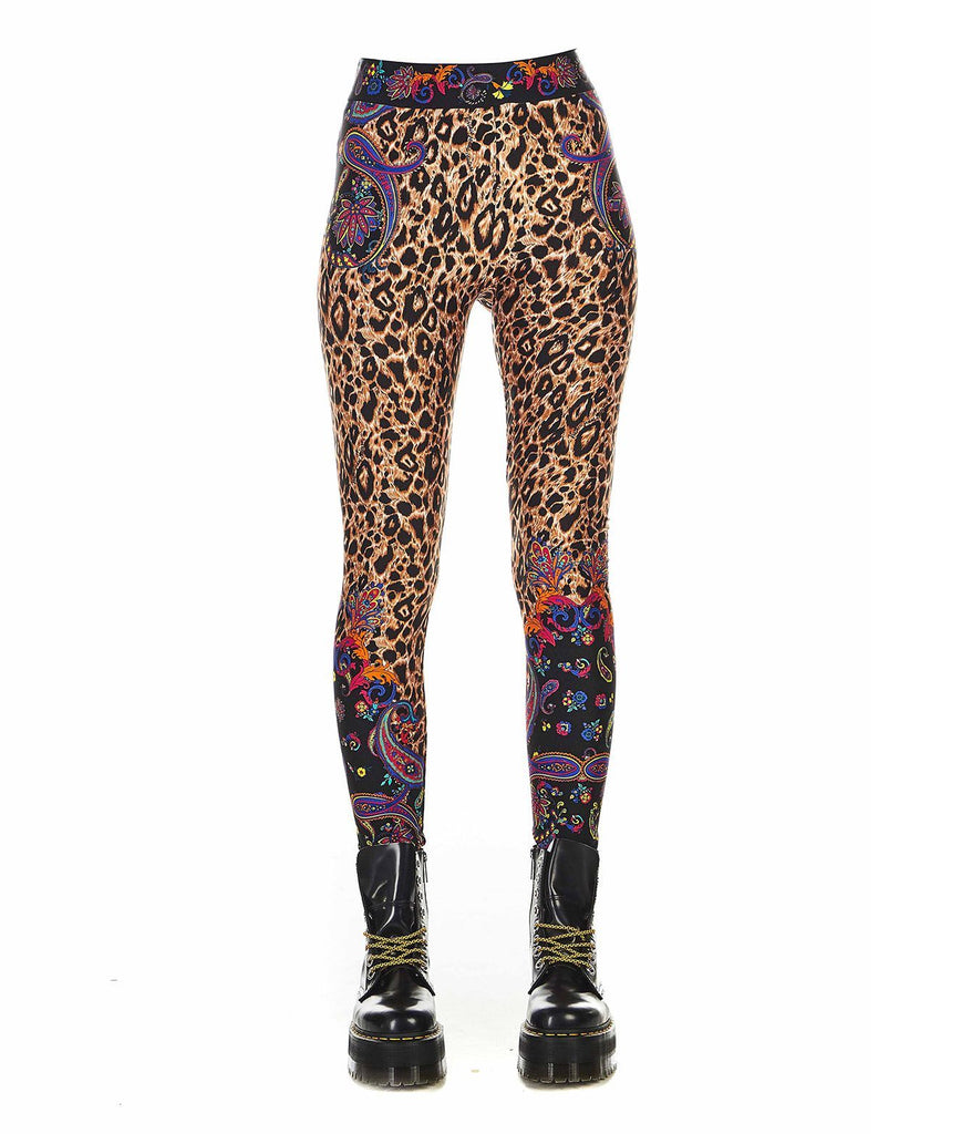 VERSACE MULTICOLOUR LEGGINGS