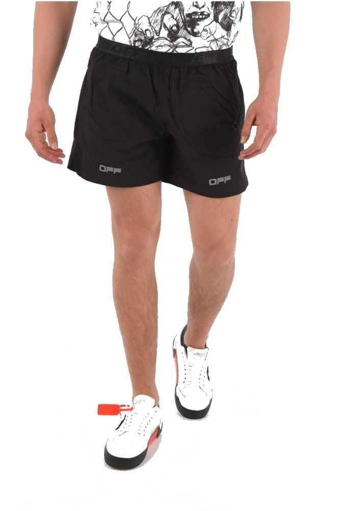 OFF-WHITE SCHWARZ SHORTS