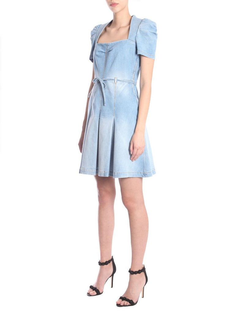 BOUTIQUE MOSCHINO HELLBLAU KLEID