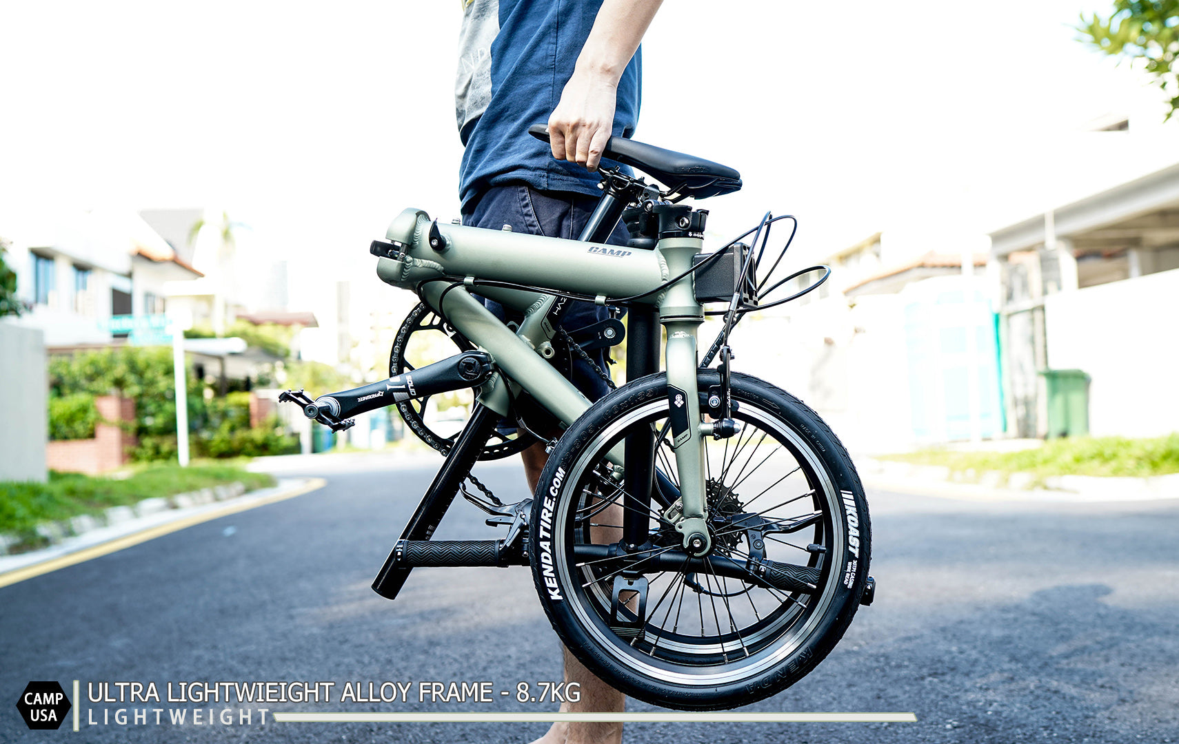 folded Bicycle lightest