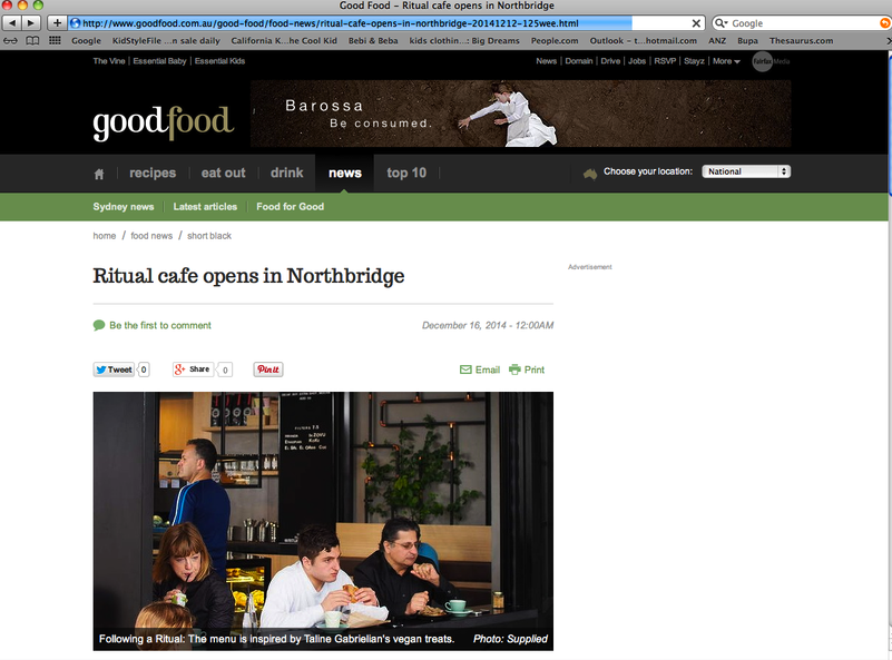 Good Food Feature, Sydney Morning Herald