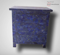 LAPIS LAZULI 3 DRAWER TABLE
