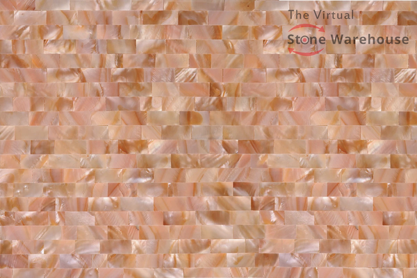 PINK MOTHER OF PEARL 3D LARGE BRICK  SHELLSTONE