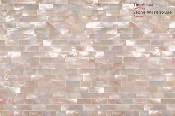 WHITE MOTHER OF PEARL RAINBOW LARGE SHELLSTONE SMALL BRICK