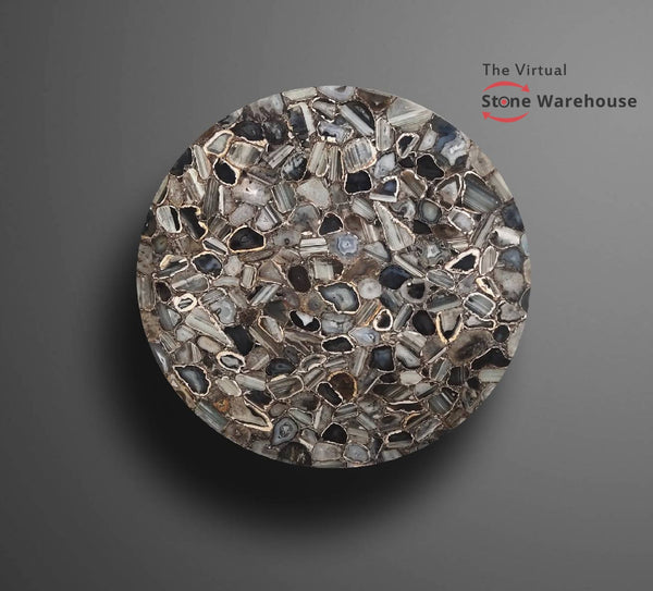 GREY AGATE ROUND TABLETOP-The Virtual Stone Warehouse
