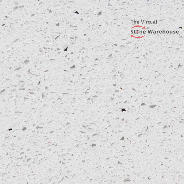 WHITE GALAXY (BRILLO BRANCO) QUARTZ-The Virtual Stone Warehouse