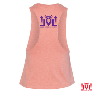 RETRO Sunset Ladies Crop Racerback