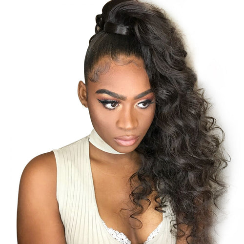 180% Loose Wave 360 Lace Frontal Wigs Pre-plucked Human Hair Wig
