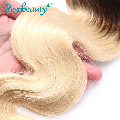 Rosabeauty 8A #T1B/613  Body Wave Hair Bundles 3:7