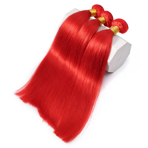 Rosabeauty 8A #Red Straight Hair Bundles