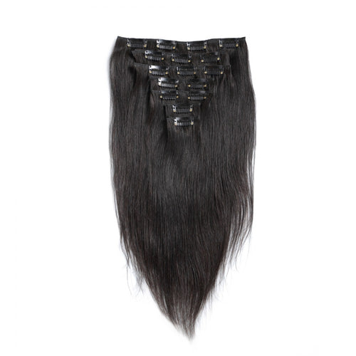 100G Brazilian Hair Straight Clip in Hair Extension #1B #1 #2 #4#613 7PSet