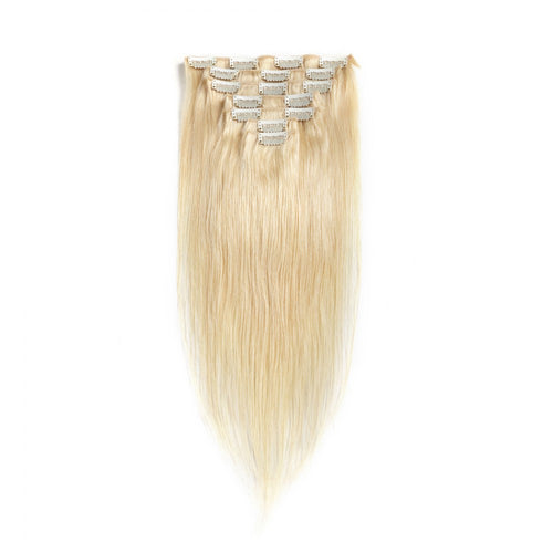 #1B 70G Brazilian Hair Straight Clip in Hair Extension 7PSet