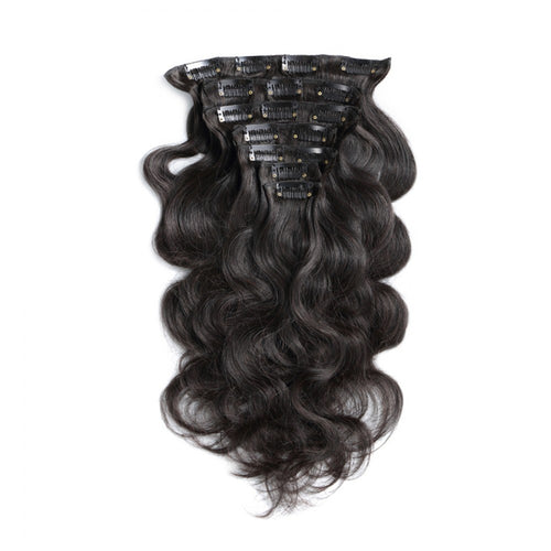 #1B 70G Brazilian Hair Body Wave Clip in Hair Extension 7PSet
