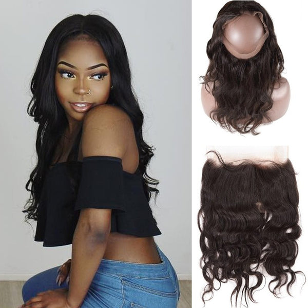 360 Lace Frontal Brazilian Body wave Pre Plucked