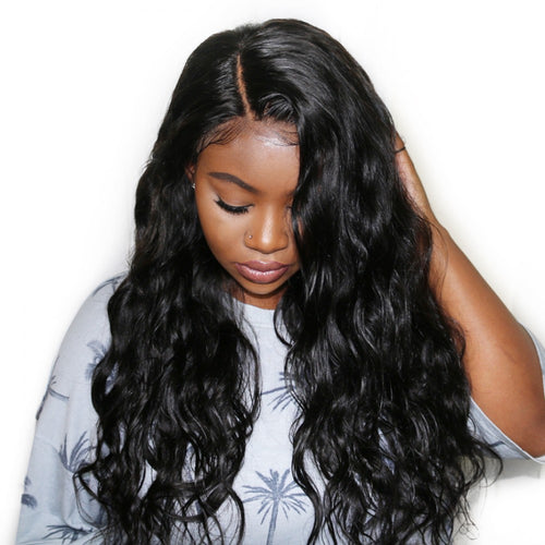 250% Body Wave 360 Lace Frontal Wigs Pre-plucked Human Hair Wig