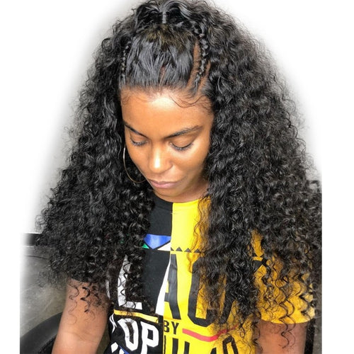 250% Deep Wave 360 Lace Frontal Wigs Pre-plucked Human Hair Wig