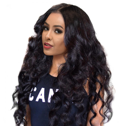 250% Loose Wave 360 Lace Frontal Wigs Pre-plucked Human Hair Wig