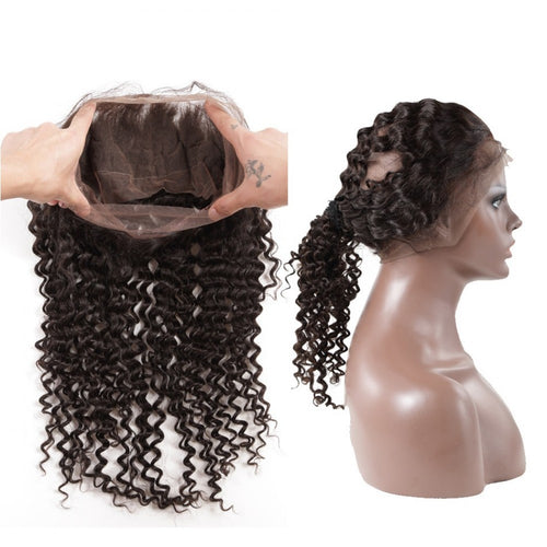 Brazilian Hair 360 Lace Frontal Deep wave