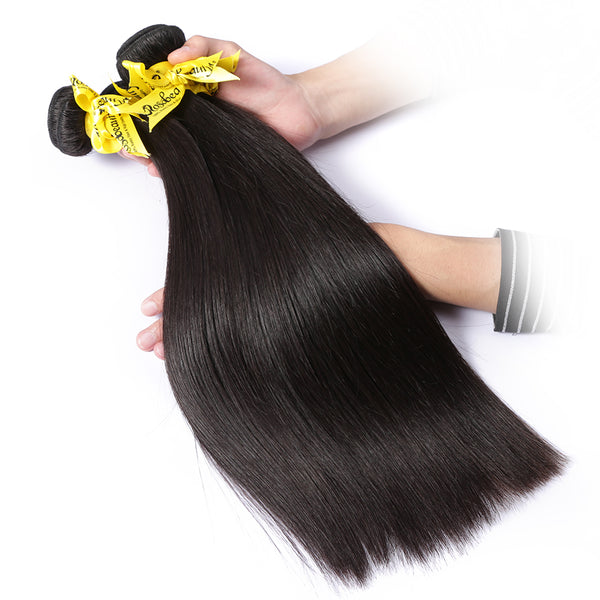 7A 3 Bundles Hair Weave Brazilian Hair With 5x5 Lace Closure Straight