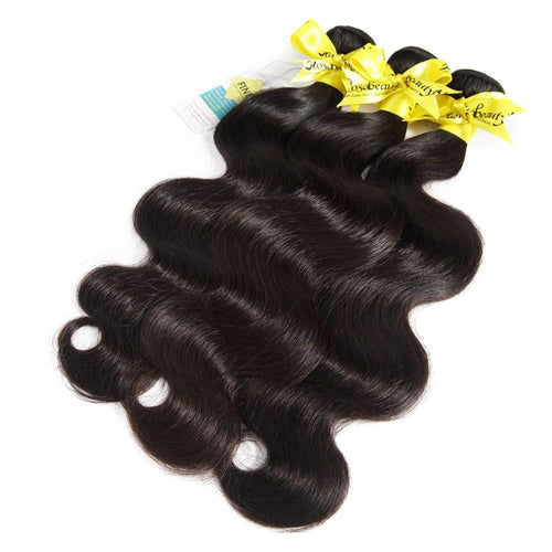Rosabeauty 7A 3 Bundles Hair Weave Brazilian Hair With Lace Closure Body Wave