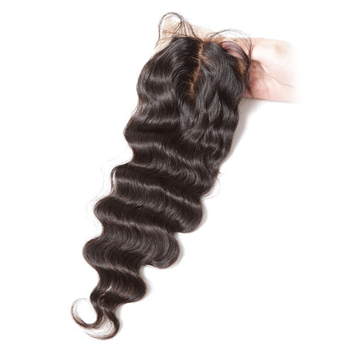 4X4 Silk Base Closure Brazilian Hair Loose wave