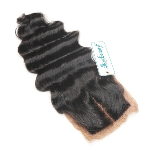 Rosabeauty 7A 4 Bundles Hair Weave Brazilian Hair With Silk Base Closure Loose Wave