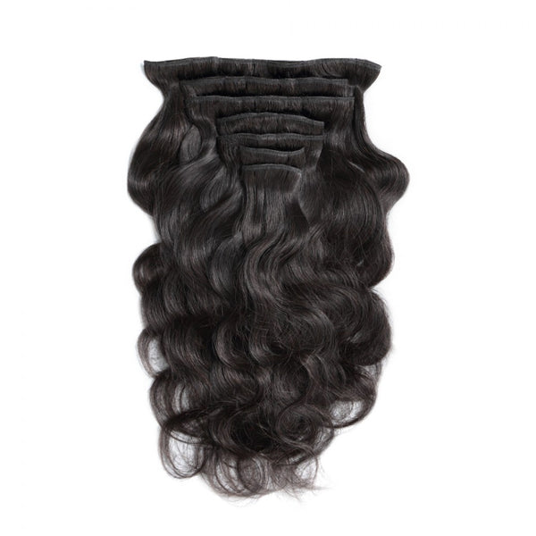 #1B 100G Brazilian Hair Body Wave Clip in Hair Extension 7PSet