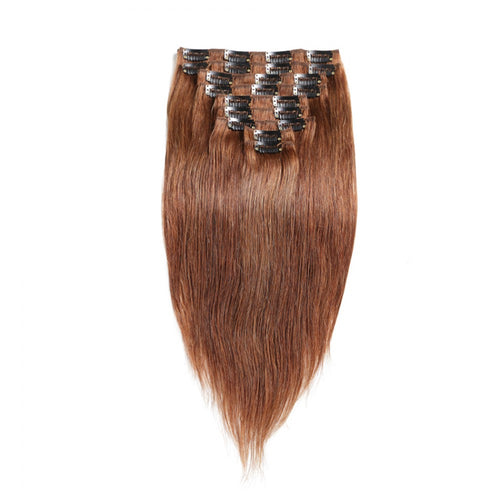 140G Brazilian Hair Straight Clip in Hair Extension #1B #1 #2 #4#613 10PSet