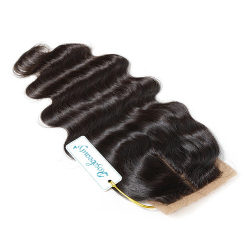 Rosabeauty 7A 3 Bundles Hair Weave Brazilian Hair With Silk Base Closure Body Wave