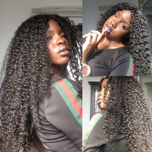 Rosabeauty 7A Hair Weave Brazilian Hair Kinky Curly