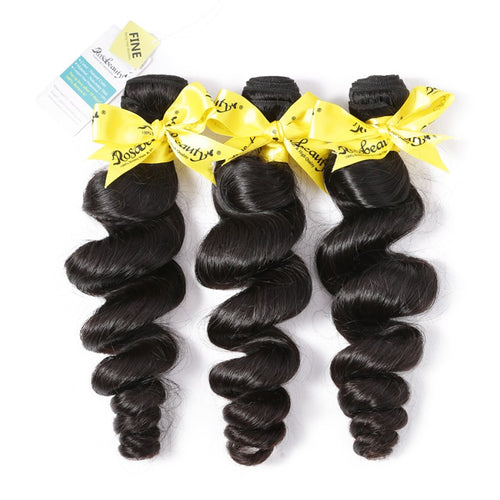 Rosabeauty 7A Hair Weave Brazilian Hair Loose Wave
