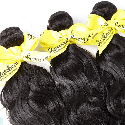 Rosabeauty 7A Hair Weave Brazilian Hair Natural Wave